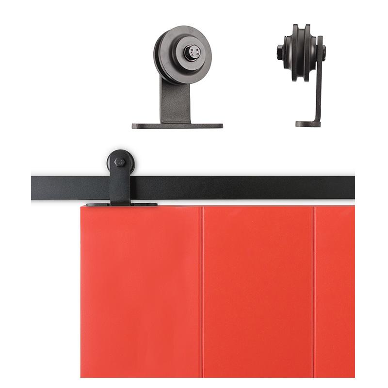 Sliding Cabinet Barn Door Hardware Kit 6 6 Feet Steel
